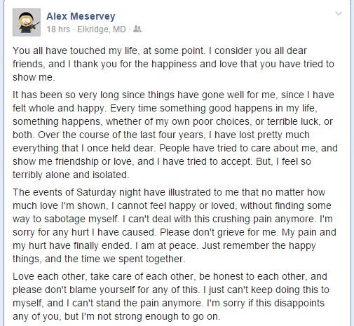 Alex goodbye